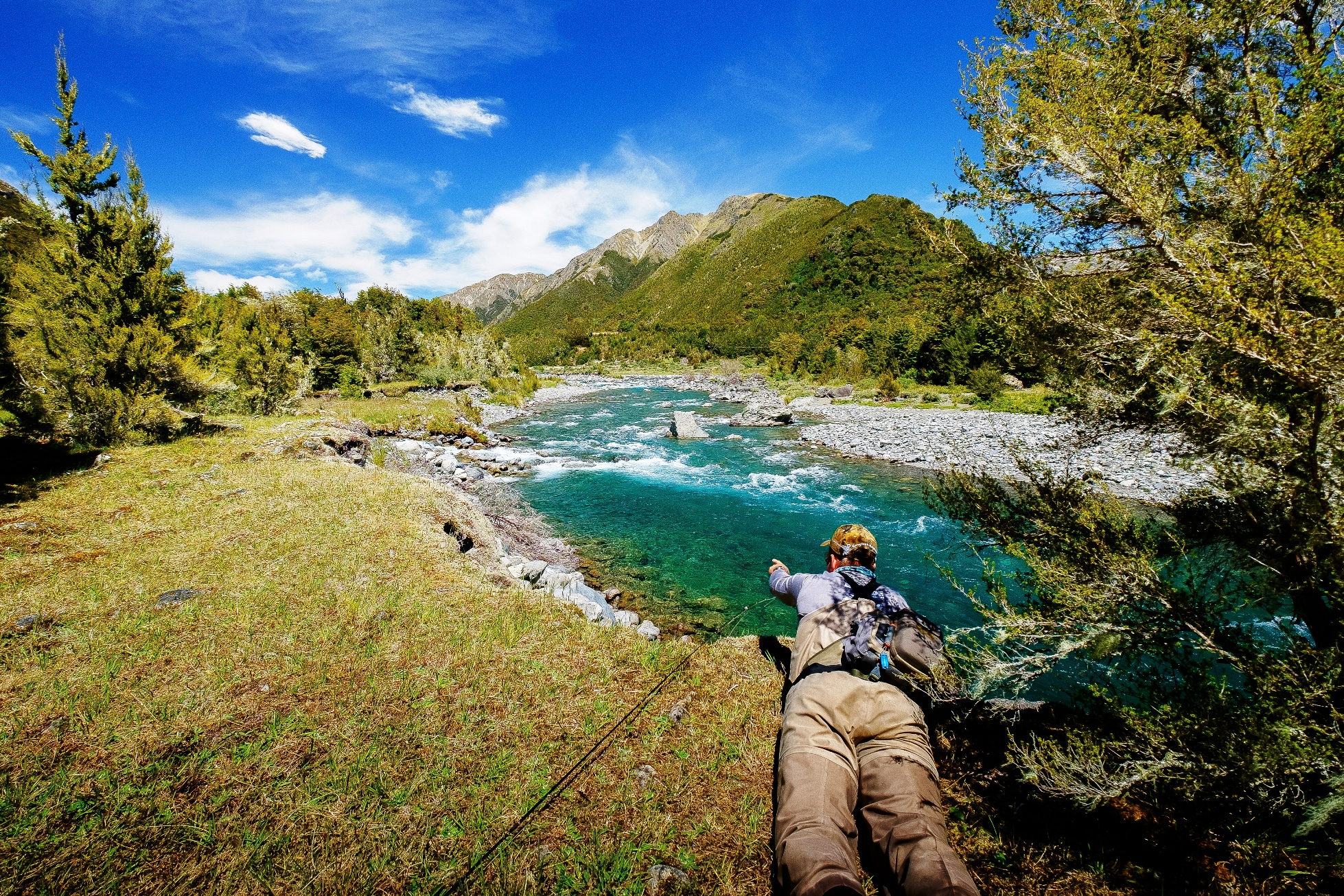 Fly fishing with john black places to go rivers to fish for Fly fishing new zealand