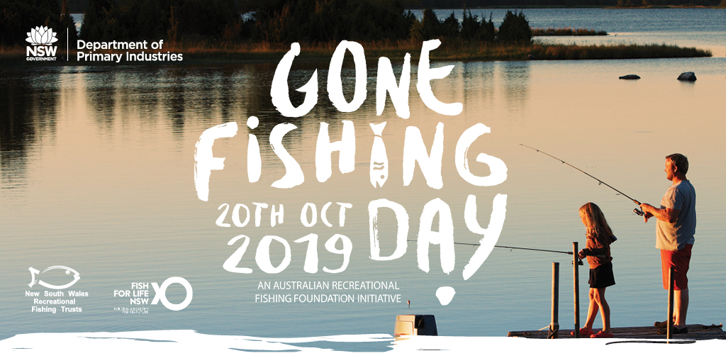 Gone Fishing Day is on this Sunday, 20 Oct 2019