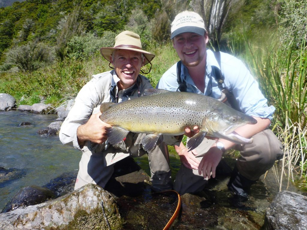 14lb_wild_brown_trout_owen_river_odge, south island, new zealand