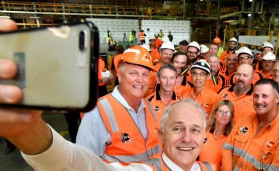 Malcolm Turnbull campaigns in Caboolture, in the Queensland seat of Longman
